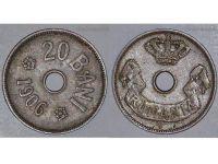 Romania Coin 20 bani 1906 King Carol Romanian Kingdom Cupro Nickel Circulated