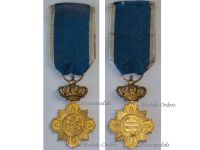 Romania WW1 Loyal Service I Class Military Cross 1st type 1906 1932 King Carol Romanian Medal Decoration WWI 1914 1918