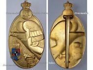 Romania Military Academy Graduate Badge 1st Class Gold Grade 2nd type 1930 King Carol II Romanian Medal Officers Decoration