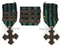Romania WWI Commemorative War Cross 1916 1918 with 3 Clasps (Ardeal, Marasti, 1919)