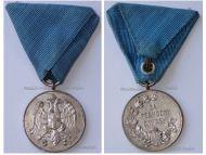 Serbia Medal for Zealous Service Silver Class (Balkan Wars 1912 1913 & WWI 1914 1918)