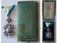 Serbia Order Saint Sava 1883 5th Class Knight's Cross Green Robe Serbian Decoration 1921 1941 boxed Sorlini Varazdin