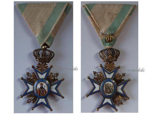 Serbia WW1 Order Saint Sava 1883 4th Class Officer's Cross Red Robe Serbian Decoration WWI 1914 1918 Scheid