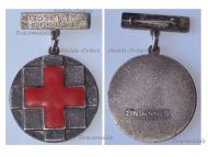 Yugoslavia Red Cross Silver Contribution Medal of Montenegro by Zin Kovnica (Mint of Serbia)