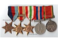 South Africa WWII Set of 5 Medals (1939 1945 Star, Africa Star with 8th Army Clasp, Italy Star, War Medal 1939 1945, Africa Service Medal) South African 1st Infantry Division Named