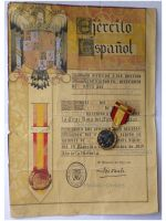 Spain Spanish Civil War Commemorative Medal 1936 1939 for the Nationalist Forces of General Franco with Diploma