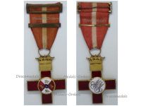 Spain WWII Order Military Merit Cross with Red Distinction & Repetition Bar General Franco 1938 1943