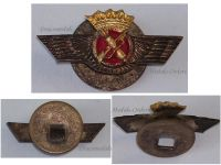 Spain Pilot Wings badge Spanish Air Force Military Insignia General Franco 1950s MINI