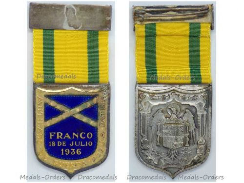 Spain WW2 Spanish Civil War Maimed Military Medal 1936 1939 Decoration Award Nationalist Forces of General Franco