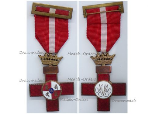 Spain WWII Order Military Merit Cross with Red Distinction General Franco 1938 1943