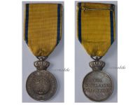 Sweden WW1 Royal Order Sword Silver Military Medal 1929 Swedish Decoration King Gustav V Interwar
