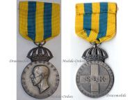 Sweden WW2 Women's Voluntary Defense Service Military Medal Lotta Corps Silver 1946 Swedish Decoration King Gustav V by Sporrong
