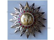 Thailand Most Exalted Order White Elephant Grand Cross Breast Star 1st Class