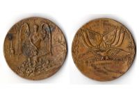USA WW1 Victory Interallied Military Table Medal By this Sign Conquer Commemorative Bronze Decoration WWI 1914 1918 Great War
