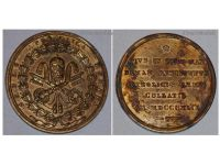 Vatican Siege Rome 1849 Military Medal Commemorative Pope Pius IX Papal Decoration
