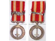 Vatican Castelfidardo Medal 1860 in Nickel Silver with Silver Monte Belaco Clasp by Artus Betrand