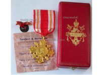 Vatican Pro Ecclesia Pontifice 1888 Cross I Class Gold Medal Pope St John XXIII 1958 1963 Papal Decoration Boxed Maker Tanfani & Bertarelli