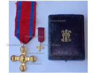 Vatican WWI Lateran Cross 1st Class Gold 1903 Boxed Set with Miniature by the School of Medal Making