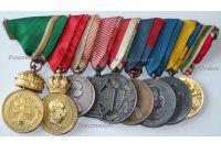 Austria Hungary WWI WWII Signum Laudis Liberation Transylvania Pro Deo et Patria set 9 Military Medals Bulgarian Hungarian Horthy Axis