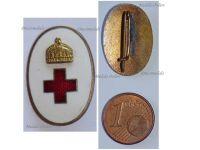 Austria Hungary WWI Hungarian Red Cross Volunteers Cap Badge 1914 1918