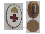 Austria Hungary WW1 Volunteers Hungarian Red Cross Cap Badge by Boczan Great War WWI 1914 1918
