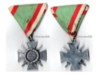 Hungary WW2 Fire Cross Combatants 1942 Military Medal Hungarian Decoration Admiral Horthy Axis Aluminum
