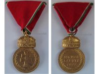 Hungary WW2 Signum Laudis Crown Military Medal 1922 bronze Hungarian Decoration Admiral Horthy Axis