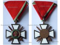 Hungary WWII Order of Merit Cross 4th Class with Swords 1922 1944 Military Division