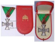 Hungary WWII Order of Merit Silver Cross 1922 1944 Boxed Marked 987 by the Hungarian State Mint