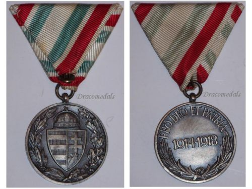 Hungary WW1 Pro Deo et Patria Military Medal WWI 1914 1918 Commemorative Hungarian Non Combatants