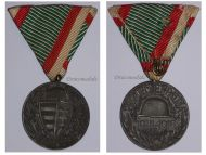 Hungary WWI Commemorative Medal Pro Deo et Patria for Combatants in Zinc