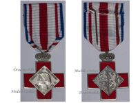 Luxembourg Red Cross Silver Medal Grand Duchess Josephine Charlotte Civil Military Luxembourgish Decoration 1964