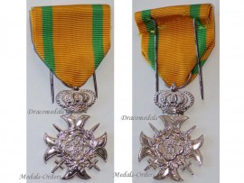 Luxembourg WW1 Army Cross 30 years Military Service NCO Luxembourgish Medal Decoration WWI 1914 1918 Great War by F. Wunsch Silver 950