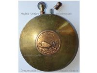 Britain WWI Trench Art Lighter Tank Mark I Male French Artillery Gun 75mm