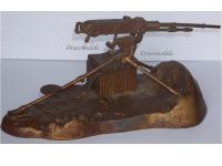 France Trench Art WWI Hotchkiss Machine Gun M1914 Inkwell by Malespina & Richer