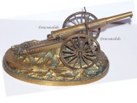 France Trench Art WW1 Artillery Gun Howitzer 75mm M1897 French Military Deskweight 1918 Great War Patriotic