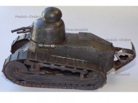 France Trench Art WWI Renault FT17 Tank French Military Inkwell WW1 Great War 1914 1918