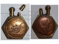 France Trench Art WWI Lighter French Rooster Artillery Gun 75mm by Fleury & Thiaumont