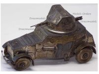 France Trench Art WWI Armored Car White AC 1915-18 Inkwell