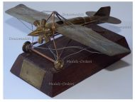 Germany Trench Art WWI Fokker Eindecker E-1 Airplane on Base Champagne 1914 1917