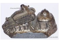 France Trench Art WW1 Tank Renault FT17 French Military Inkwell WWI 1914 1918 Great War Patriotic