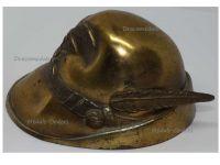 Italy WWI Italian Alpine Troops Hat Cap Alpini Desk Paperweight Patriotic Trench Art Great War WW1 1914 1918