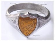 France Trench Art WWI Patriotic Ring for the Battle of Verdun (Desk Weight)