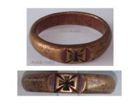 Germany WW1 Ring Patriotic Iron Cross EK1 Trench Art Bronze 1914 1918 German Great War