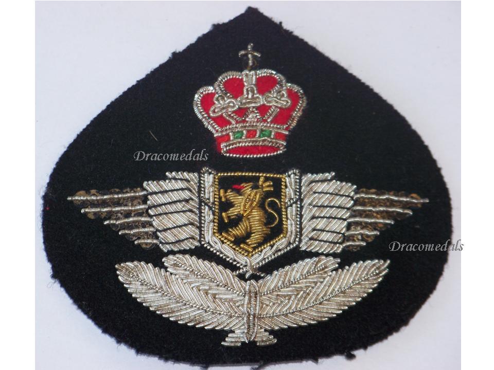 Belgium WW2 Belgian Royal Air Force Wings Visor Cap Badge NCO Insignia  Military Medal Decoration 3459fbd97531