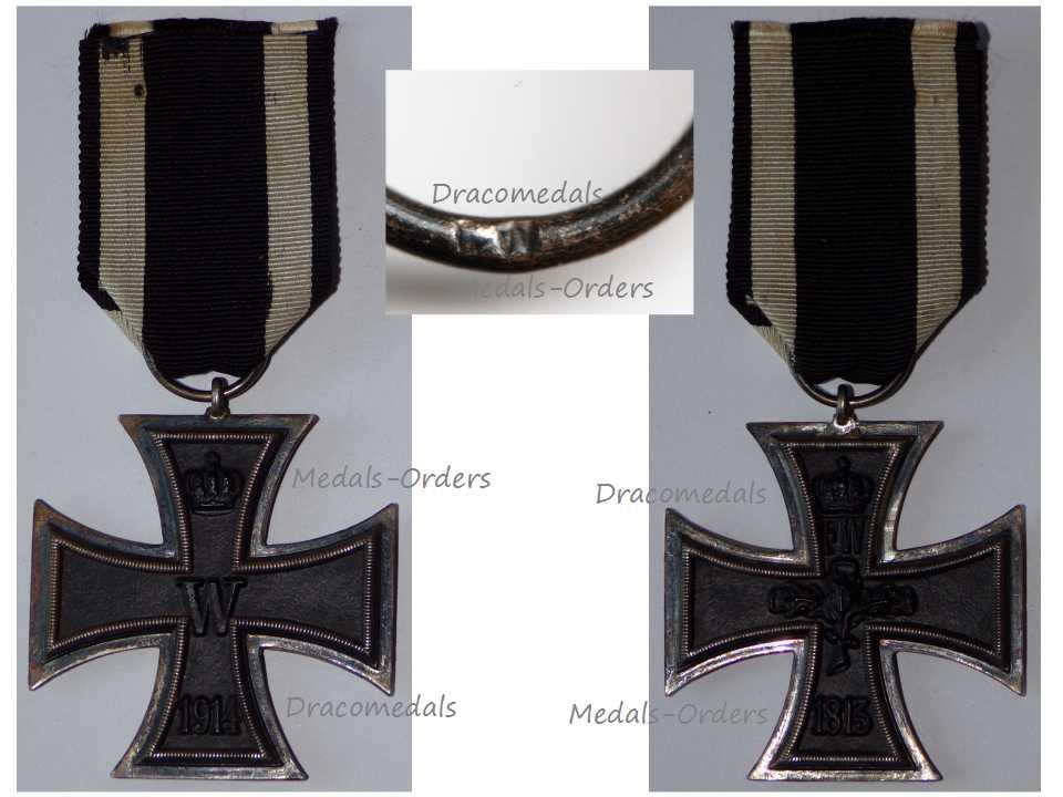 Germany Iron Cross 1914 EK2 Maker FW German WW1 Medal Decoration Merit  Prussia WWI 1918 Great War
