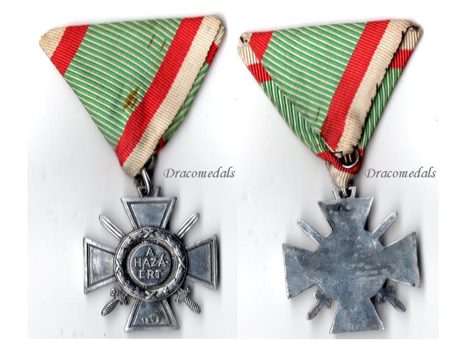 Hungary ww2 fire cross combatants 1942 military medal for Aluminium decoration